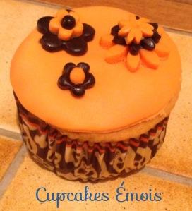 Cupcake Fleurs d'Halloween