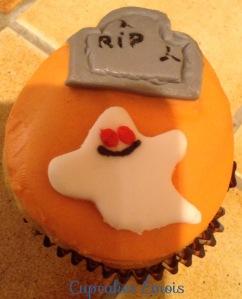Cupcake Petit Fantôme d'Halloween