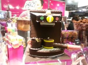 Machine espresso en chocolat