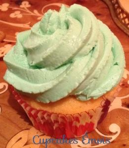 Autre cupcake vert topping Philadelphia