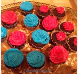Cupcakes Rose et Bleu