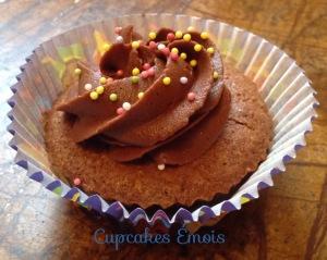 Cupcake chocolat, ganache caramel